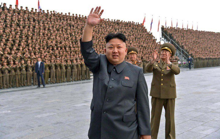 De huidge leider van Noord-Korea, Kim Jung-un