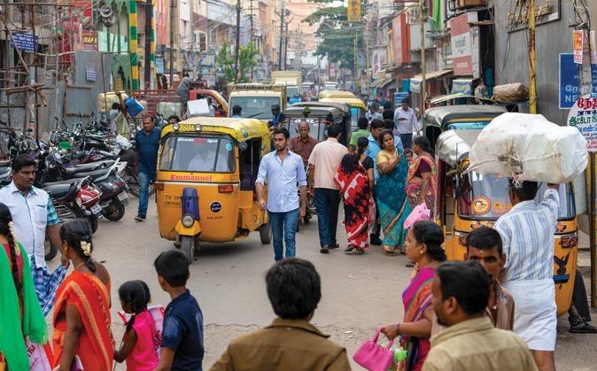 Via onze partners kreeg Ritesh een Riksja (fietstaxi). Daarmee kan hij in zijn inkomen voorzien.