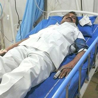 Voorganger Gandham in het ziekenhuis