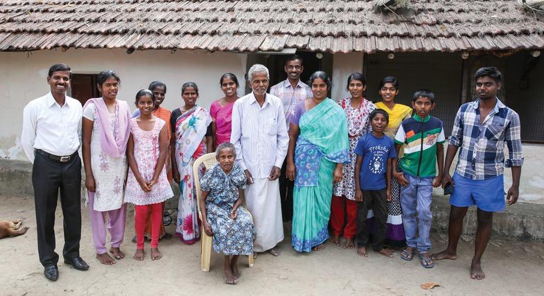 Een christelijk huishouden in India