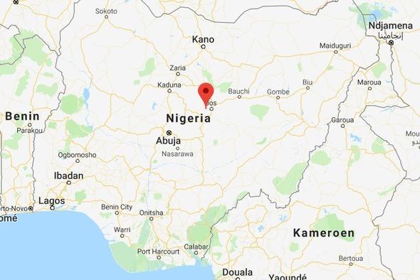 Het dorp Miango, waar de aanslag plaatsvond
