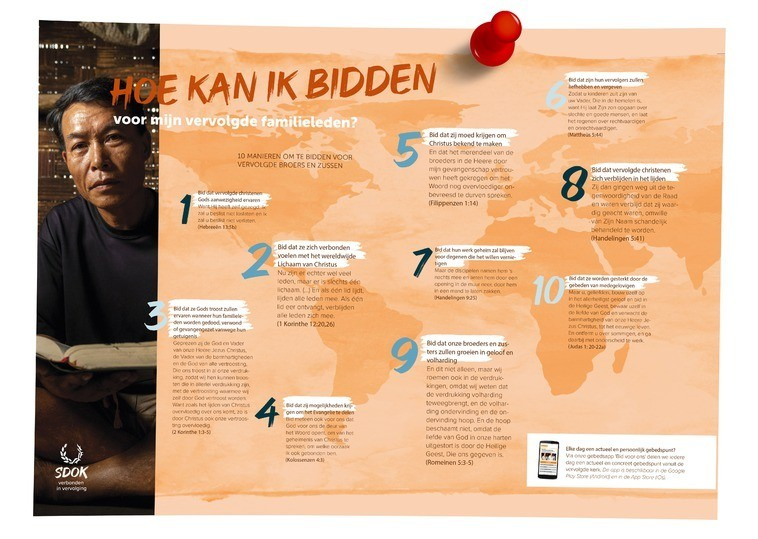 De tien gebedspunten zijn als poster beschikbaar. Vraag hem gratis aan via info@sdok.nl