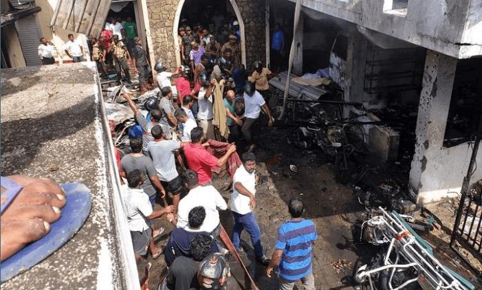 Chaos na de aanslag op de Zion Church | Beeld: Twitter/danishkanavin
